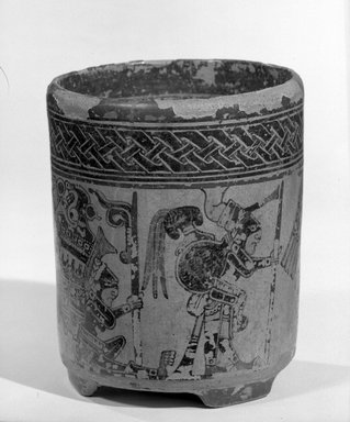 Maya. Jar, ca. 500-700. Ceramic, pigment, 6 x 5 x 5 in. (15.2 x 12.7 x 12.7 cm). Brooklyn Museum, A. Augustus Healy Fund, 35.650. Creative Commons-BY