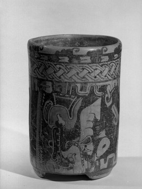 Maya. Jar. Ceramic, pigment, 8 x 5 3/4 x 5 3/4 in. (20.3 x 14.6 x 14.6 cm). Brooklyn Museum, A. Augustus Healy Fund, 35.651. Creative Commons-BY
