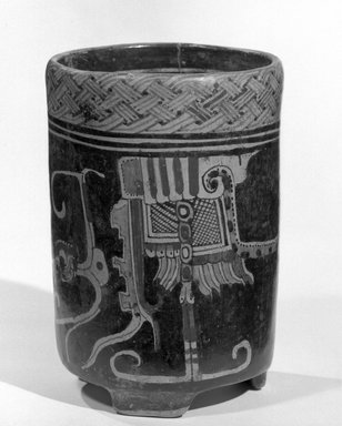 Maya. Jar. Ceramic, pigment, 8 x 5 1/2 x 5 1/2 in. (20.3 x 14 x 14 cm). Brooklyn Museum, A. Augustus Healy Fund, 35.655. Creative Commons-BY