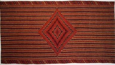 Saltillo. Serape, 19th century. Wool, cotton, 90 x 49 1/2in. (228.6 x 125.7cm). Brooklyn Museum, A. Augustus Healy Fund, 36.148. Creative Commons-BY
