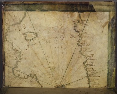 Greek. Map: The Western Mediterranean, mid 16th century. Parchment, Sheet: 7 7/8 x 12 in. (20 x 30.5 cm). Brooklyn Museum, Frank L. Babbott Fund and Henry L. Batterman Fund, 36.203.5
