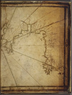 Greek. Map: The Coast of France and Holland, and the British Isles, mid-16th century. Parchment, Sheet: 7 7/8 x 12 in. (20 x 30.5 cm). Brooklyn Museum, Frank L. Babbott Fund and Henry L. Batterman Fund, 36.203.7