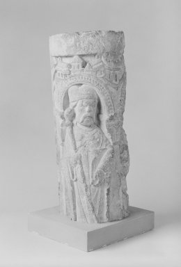 Unknown. Romanesque Column, 12th century. Limestone, 18 11/16 x 6 11/16 x 8 1/4 in. (47.5 x 17 x 21 cm). Brooklyn Museum, A. Augustus Healy Fund, 36.215. Creative Commons-BY