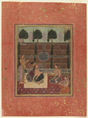 Mughal Style. Ladies on a Terrace, ca. 1700-1710. Opaque watercolor on paper, Sheet: 13 3/4 x 10 1/4 in. (34.9 x 26 cm). Brooklyn Museum, Obtained by exchange with Nasli M. Heeramaneck, 36.231