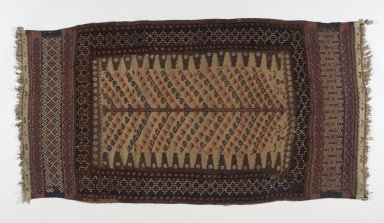 Baluch Sofra, late 19th century. Wool, Old Dims: 57 1/16 x 28 3/4 in. (145 x 73 cm). Brooklyn Museum, A. Augustus Healy Fund, 36.237. Creative Commons-BY