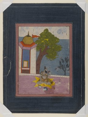 Indian. Devagandhara Ragini (?), late 18th century. Opaque watercolor and gold on paper, sheet: 14 5/8 x 10 1/2 in.  (37.1 x 26.7 cm). Brooklyn Museum, Gift of Dr. Ananda K. Coomaraswamy, 36.249