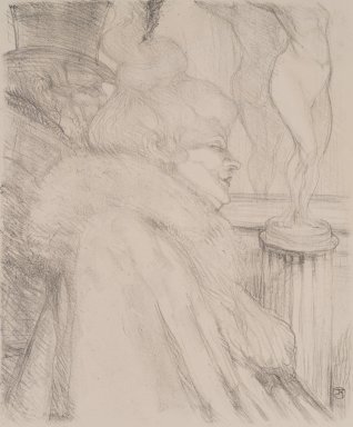 Henri de Toulouse-Lautrec (French, 1864-1901). Sortie de Théatre, 1896. Lithograph on wove paper, Image: 12 3/8 x 10 1/4 in. (31.5 x 26 cm). Brooklyn Museum, Charles Stewart Smith Memorial Fund and Frank L. Babbott Fund, 36.257