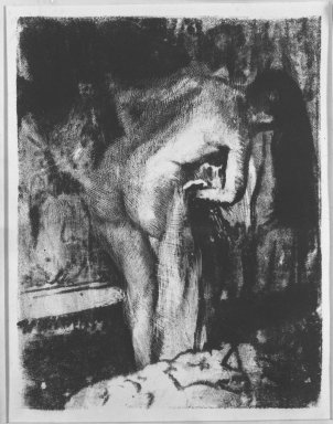 Edgar Degas (French, 1834-1917). After the Bath II (Après le Bain II), 1891-1892. Lithograph and crayon on stiff  wove paper, 11 7/8 x 8 3/4in. (30.2 x 22.2cm). Brooklyn Museum, Brooklyn Museum Collection, 36.259