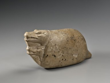 Mating Hippopotami, 664-30 B.C.E. Limestone, 5 1/2 x 3 3/4 x 11 1/2 in. (14 x 9.5 x 29.2 cm). Brooklyn Museum, Charles Edwin Wilbour Fund, 36.262. Creative Commons-BY