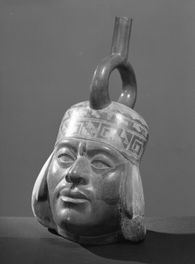 Moche. Portrait Vessel of Man. Ceramic Brooklyn Museum, Gift of Mrs. Eugene Schaefer , 36.331. Creative Commons-BY