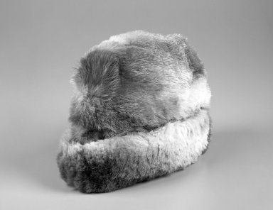 Inupiaq Eskimo (Native American). Winter Cap, 1900-1930. Fur, 13 x 9 x 5 in. or (23.0 x 33.0 cm). Brooklyn Museum, Frank L. Babbott Fund, 36.47. Creative Commons-BY