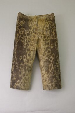 Inupiaq Eskimo (Native American). Trousers, 1900-1930. Sealskin, buttons, inseam: 33 1/2. Brooklyn Museum, Frank L. Babbott Fund, 36.48. Creative Commons-BY