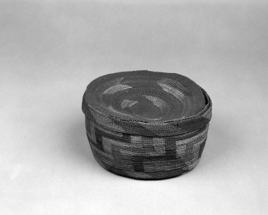Basket and Lid with geometric designs