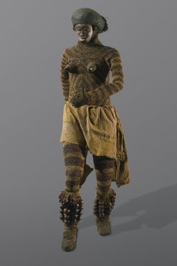 Brooklyn Museum: Pair of Rattles (Likishi Dance Costume Accessory)