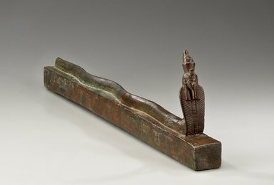 Snake Coffin, 664-30 B.C.E. Bronze, 5 11/16 x 1 9/16 x 22 1/16 in. (14.4 x 3.9 x 56 cm). Brooklyn Museum, Charles Edwin Wilbour Fund, 36.624. Creative Commons-BY