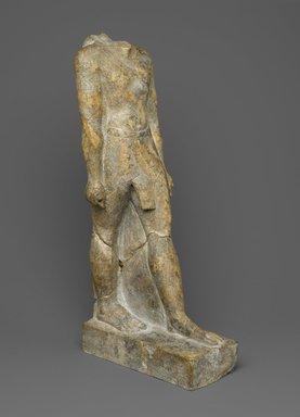 Statue of a Priest, Wen-amun Son of Nes-ba-neb-dedet and Ta-sherit-Khonsu, ca. 50 B.C.E. Limestone, 15 1/2 x 3 1/4 x 7 1/4 in., 10 lb. (39.4 x 8.3 x 18.4 cm, 4.54kg). Brooklyn Museum, Charles Edwin Wilbour Fund, 36.834. Creative Commons-BY
