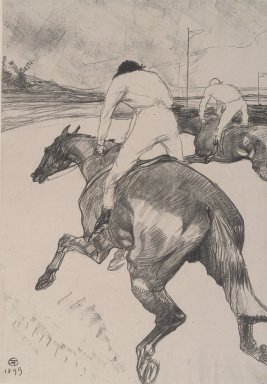 Henri de Toulouse-Lautrec (French, 1864-1901). Le Jockey, 1899. Lithograph on China paper, Image: 20 1/4 x 14 3/16 in. (51.5 x 36 cm). Brooklyn Museum, By exchange, 36.916