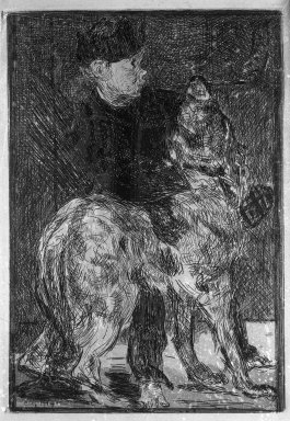 Édouard Manet (French, 1832-1883). The Boy with a Dog (Le Garçon et le chien), ca. 1862. Etching on China paper, plate: 7 7/8 x 5 9/16 in. (20 x 14.1 cm). Brooklyn Museum, Museum Collection Fund, 36.954