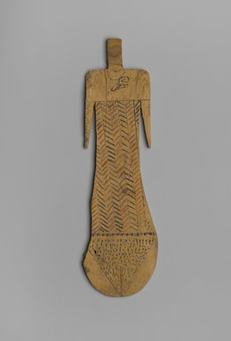 Paddle Doll, ca. 2008-1630 B.C.E. Wood, paint, 8 5/16 x 2 7/16 x 3/16 in. (21.1 x 6.2 x 0.5 cm). Brooklyn Museum, Charles Edwin Wilbour Fund, 37.104E. Creative Commons-BY