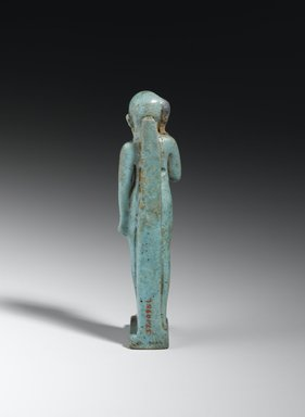 Statue of Horus as a Child, 664-332 B.C.E. Faience, 3 7/8 x 13/16 x 1 in. (9.8 x 2 x 2.6 cm). Brooklyn Museum, Charles Edwin Wilbour Fund, 37.1095E. Creative Commons-BY