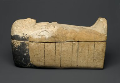 Coffin for a Shabty, ca. 1539-1400 B.C.E. Limestone, Dimensions of Closed Coffin: 7 x 7 x 15 1/4 in. (17.8 x 17.8 x 38.7 cm). Brooklyn Museum, Charles Edwin Wilbour Fund, 37.128E. Creative Commons-BY