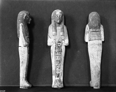 Ushabti of Hori, ca. 1292-1075 B.C.E. Wood, painted, 7 3/8 x 1 11/16 x 1 5/16 in. (18.8 x 4.3 x 3.3 cm). Brooklyn Museum, Charles Edwin Wilbour Fund, 37.132E. Creative Commons-BY