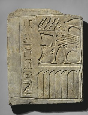 Egyptian. Relief of Offering Table, ca. 2008-1630 B.C.E. and ca.760-656 B.C.E. Limestone, 20 3/4 x 16 1/2 x 1 3/4 in. (52.7 x 41.9 x 4.4 cm). Brooklyn Museum, Charles Edwin Wilbour Fund, 37.1355E. Creative Commons-BY