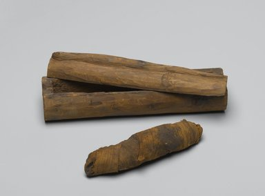 Snake Coffin with Mummy, 664-332 B.C.E. Wood, animal remains, linen, 1 7/8 x 2 1/2 x 7 7/8 in. (4.8 x 6.4 x 20 cm). Brooklyn Museum, Charles Edwin Wilbour Fund, 37.1358Ea-c. Creative Commons-BY