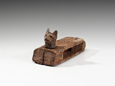 Cat Coffin with Mummy, 305-30 B.C.E. Wood, animal remains, linen, 3 5/8 x 3 x 6 3/4 in. (9.2 x 7.6 x 17.1 cm). Brooklyn Museum, Charles Edwin Wilbour Fund, 37.1363E. Creative Commons-BY