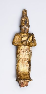 Osiris, 4th century B.C.E. or later. Wood, gesso, paste, bronze, electrum, gold leaf, 7 5/16 x 3 3/8 x 1 5/16 in. (18.6 x 8.6 x 3.4 cm). Brooklyn Museum, Charles Edwin Wilbour Fund, 37.1374E. Creative Commons-BY