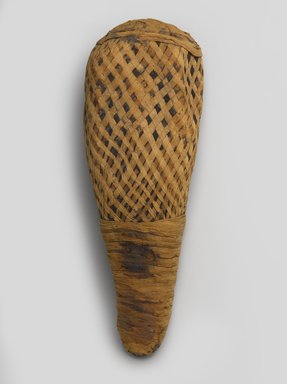 Ibis Mummy, 740-380 B.C.E. Animal remains, linen, 16 x 5 3/4 x 5 in. (40.6 x 14.6 x 12.7 cm). Brooklyn Museum, Charles Edwin Wilbour Fund, 37.1382E. Creative Commons-BY