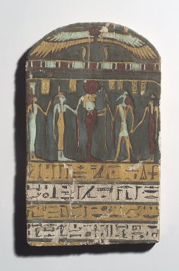 Grave Stela of a Lady, ca. 945-712 B.C.E. Wood, paint, 13 3/8 x 8 1/16 in. (34 x 20.4 cm). Brooklyn Museum, Charles Edwin Wilbour Fund, 37.1384E. Creative Commons-BY