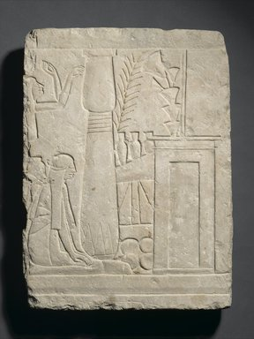Relief of Mourners Before a Tomb, ca. 1295-1190 B.C.E. Limestone, 16 9/16 x 12 3/16 x 2 3/8 in. (42 x 31 x 6 cm). Brooklyn Museum, Charles Edwin Wilbour Fund, 37.1504E. Creative Commons-BY