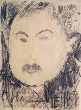 Amedeo Modigliani (Italian, 1884-1920). Portrait of Adolphe Basler, ca. 1916. Conté Crayon, 11 5/8 x 8 11/16 in.  (29.5 x 22.1 cm). Brooklyn Museum, Brooklyn Museum Collection, 37.160