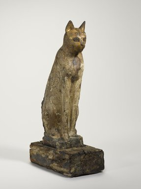 Cat Coffin, 664 B.C.E. or later. Wood, gesso, paint, animal remains, 18 7/8 x 5 1/16 x 8 in. (48 x 12.8 x 20.3 cm). Brooklyn Museum, Charles Edwin Wilbour Fund, 37.1944Ea-b. Creative Commons-BY