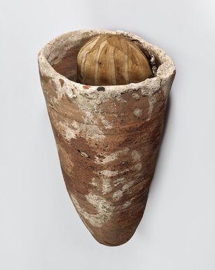 Ibis-Form Mummy in Jar, 510-210 B.C.E. Pottery, animal remains, linen, Diam. 7 5/16 x 14 in. (18.5 x 35.5 cm). Brooklyn Museum, Charles Edwin Wilbour Fund, 37.1952Ea-c. Creative Commons-BY