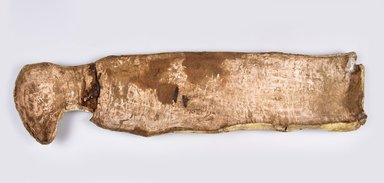 Cat Mummy in Cartonnage, 760-380 B.C.E. Cartonnage, animal remains, linen, 35 1/4 x 4 7/8 x 10 in. (89.5 x 12.4 x 25.4 cm). Brooklyn Museum, Charles Edwin Wilbour Fund, 37.1991Ea-c. Creative Commons-BY