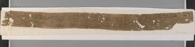 Mummy Bandage, Ii-em-hetep, born of Ta-remetj-hepu, 332 B.C.E. - 1st century C.E. Linen, ink, 3 9/16 x 39 9/16 in. (9 x 100.5 cm). Brooklyn Museum, Charles Edwin Wilbour Fund, 37.2039.21E. Creative Commons-BY