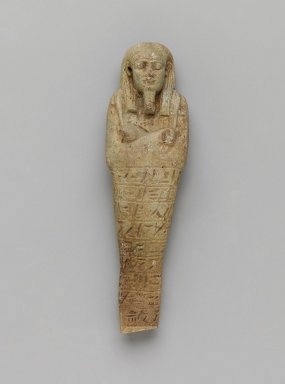 Ushabti of Uza-hor, 664-525 B.C.E. Faience, Height: 4 3/4 in. (12 cm). Brooklyn Museum, Charles Edwin Wilbour Fund, 37.203E. Creative Commons-BY