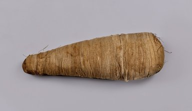 Mummified Ibis. Animal remains, linen, 3 1/2 x 4 1/4 x 11 15/16 in. (8.9 x 10.8 x 30.4 cm). Brooklyn Museum, Charles Edwin Wilbour Fund, 37.2042.35E. Creative Commons-BY