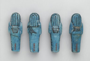 Shabty of Muthotep, ca. 1075-656 B.C.E. Faience, 3 1/2 x 1 1/4 x 1 in. (8.9 x 3.2 x 2.5 cm). Brooklyn Museum, Charles Edwin Wilbour Fund, 37.207E. Creative Commons-BY