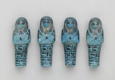 Shabty of Muthotep, ca. 1075-656 B.C.E. Faience, glazed, 3 5/8 x 1 1/4 x 1 in. (9.2 x 3.2 x 2.5 cm). Brooklyn Museum, Charles Edwin Wilbour Fund, 37.206E. Creative Commons-BY