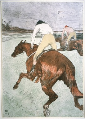 Henri de Toulouse-Lautrec (French, 1864-1901). The Jockey (Le Jockey), 1899. Color lithograph on China paper, 20 1/4 x 14 1/8 in. (51.5 x 36.0 cm). Brooklyn Museum, Brooklyn Museum Collection, 37.20