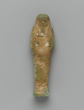Ushabti of Nesi-Yotf, 664-343 B.C.E. Faience, 3 3/4 x 1 3/16 x 13/16 in. (9.5 x 3 x 2 cm). Brooklyn Museum, Charles Edwin Wilbour Fund, 37.226E. Creative Commons-BY