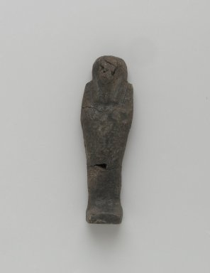 Ushabti of Yuf-o, 664-343 B.C.E. Faience, 3 5/8 x 1 1/16 x 11/16 in. (9.3 x 2.8 x 1.8 cm). Brooklyn Museum, Charles Edwin Wilbour Fund, 37.228E. Creative Commons-BY