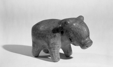 Figure of Peccary. Ceramic, pigment, 2 15/16 x 4 13/16 in. (7.5 x 12.3 cm). Brooklyn Museum, Frank Sherman Benson Fund and the Henry L. Batterman Fund, 37.2602PA. Creative Commons-BY