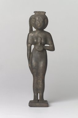 Egyptian. Statue of the Goddess Bast. Bronze, gold, electrum, 7 1/4 x 2 1/4 x 1 11/16 in. (18.4 x 5.7 x 4.3 cm). Brooklyn Museum, Charles Edwin Wilbour Fund, 37.269E. Creative Commons-BY