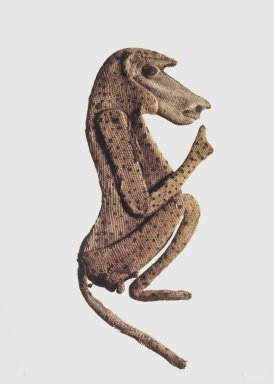 Baboon Appliqué, 305–30 B.C.E. Linen, 5 1/2 x 2 3/8 x 1/4 in. (14 x 6 x 0.6 cm). Brooklyn Museum, Charles Edwin Wilbour Fund, 37.272E. Creative Commons-BY