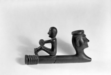 Woodlands (Native American). Pipe, 1700-1750. Stone, 5 x 3 x 1 1/2 in.  (12.7 x 7.6 x 3.8 cm). Brooklyn Museum, Frank Sherman Benson Fund and the Henry L. Batterman Fund, 37.2800PA. Creative Commons-BY