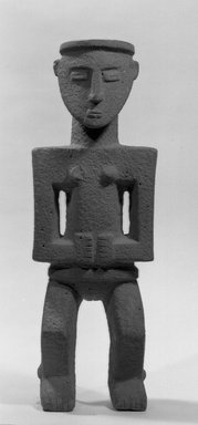 Chiriquí Style. Statue of Woman, 900-1600. Stone, 24 x 8 1/2 x 6 in. (61 x 21.6 x 15.2 cm). Brooklyn Museum, Frank Sherman Benson Fund and the Henry L. Batterman Fund, 37.2901PA. Creative Commons-BY